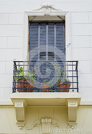 Free Blue Window And Balconie Royalty Free Stock Image - 41193836