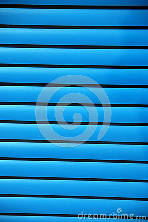 Blue window shades