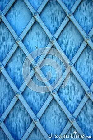 Blue window shutter
