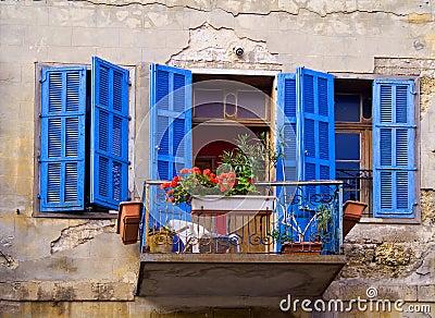 Blue windows Jaffa Israel