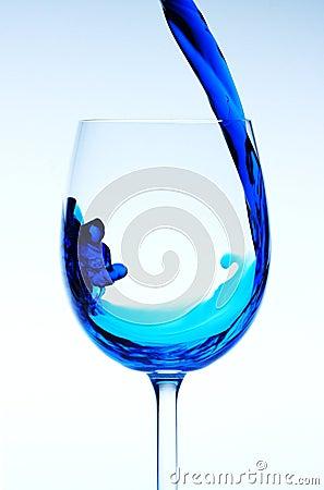Free Blue Wine Stock Photography - 6508192
