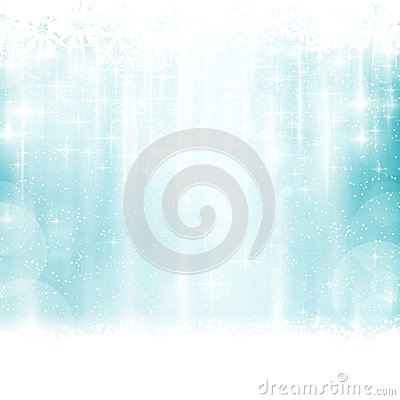Free Blue Winter, Christmas Background With Light Effects Royalty Free Stock Images - 46093509