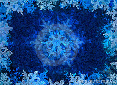 Blue Winter Ice Background