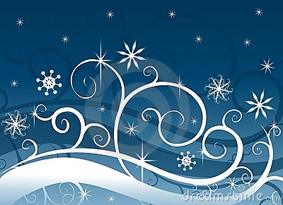 Blue Winter Wonderland Snowflakes