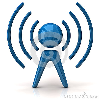 Blue wireless icon