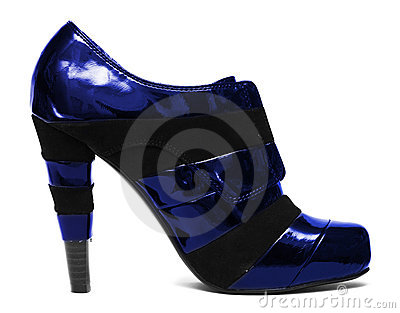 Blue womanish shoe