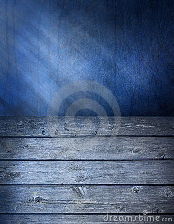 Blue Wood Surface Background