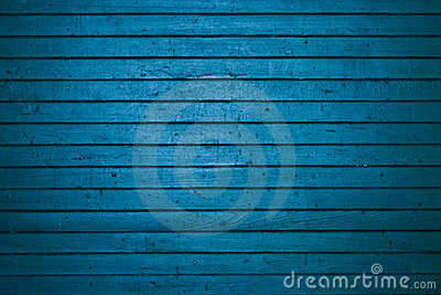 Blue wooden freight door