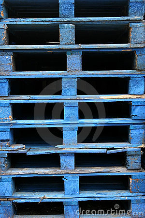 Free Blue Wooden Pallets Stock Image - 4341011