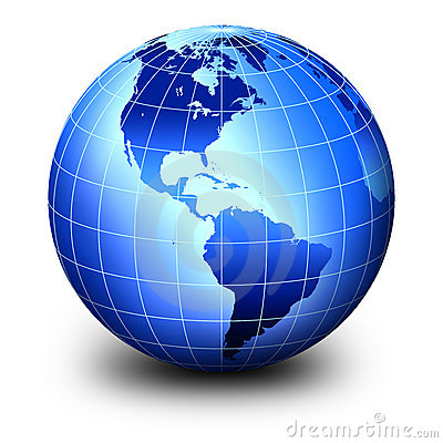 Blue world globe