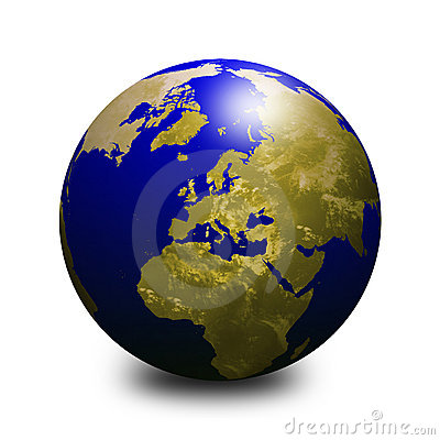 Blue world globe 2