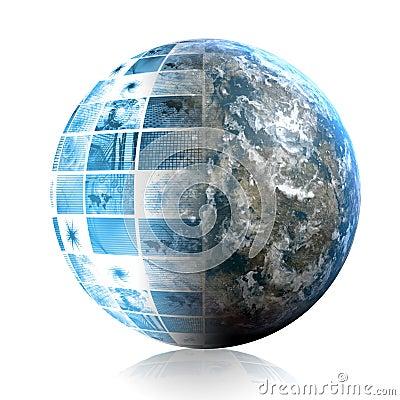 Free Blue World Technology Stock Images - 8934914