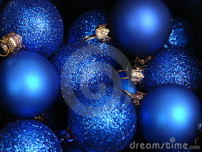 Blue xmas decorations