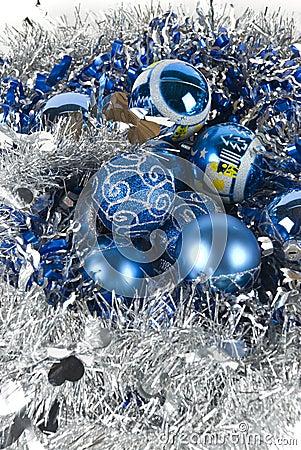Blue xmas ornament
