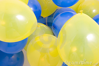 Blue and Yellow Balloons Background