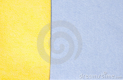 Blue and yellow cleaning rags