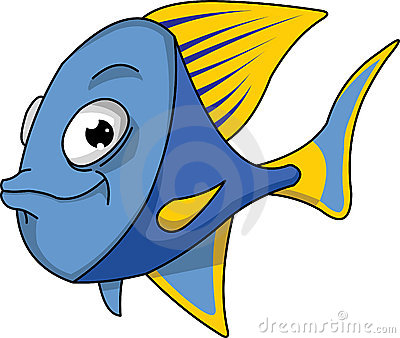 Blue And Yellow Fish. Stock Images - Image: 17851974