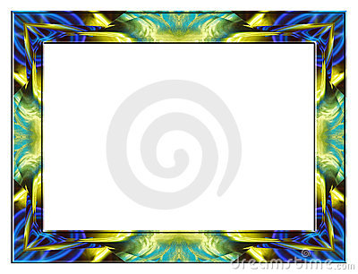 Blue yellow glass frame