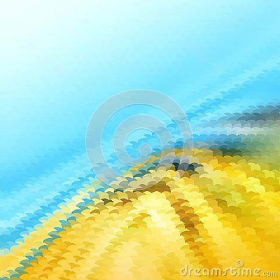 Blue and yellow gradient abstract mosaic, geometric low poly style, vector illustration design Vector Illustration