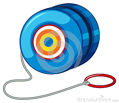 Blue yo-yo with red ring Vector Illustration