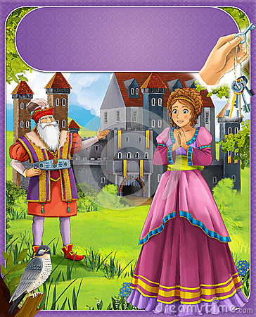 Bluebeard - greybeard - Prince or princess - castles - knights and fairies - illustration for the children