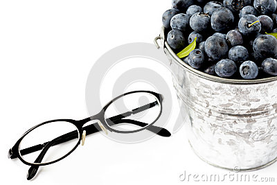 Blueberries and glasses