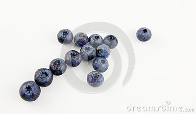 Blueberries in a shape of an arrow