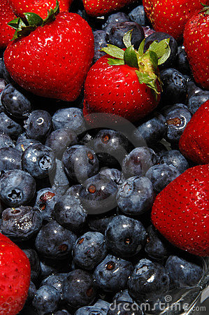 Free Blueberries Strawberries Stock Photo - 183970