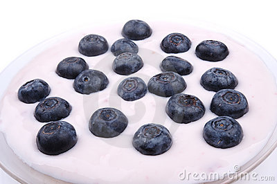Blueberries with yoghurt