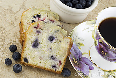 Blueberry Bread and Coffee