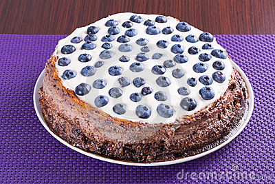 Blueberry cheesecake with white chocolate