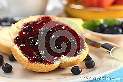 Blueberry Jam on Bun