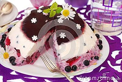 Blueberry jelly cake