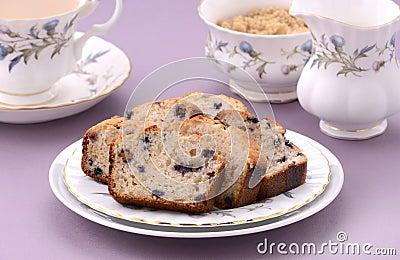 Blueberry loaf slices