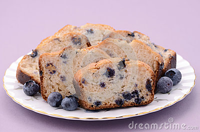 Blueberry loaf slices
