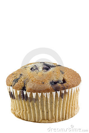 Blueberry Muffin Vertical White Background