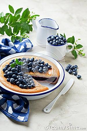 Free Blueberry Pie Royalty Free Stock Photo - 58534915