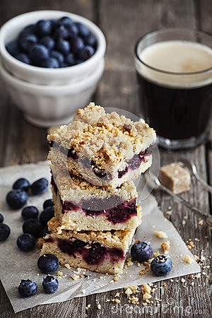 Free Blueberry Pie Bars Royalty Free Stock Image - 40996156