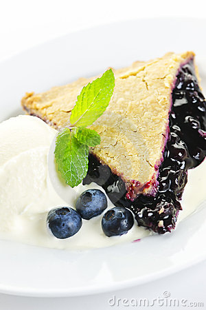 Free Blueberry Pie Slice Royalty Free Stock Image - 21903526