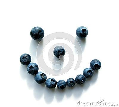 Blueberry smiley face