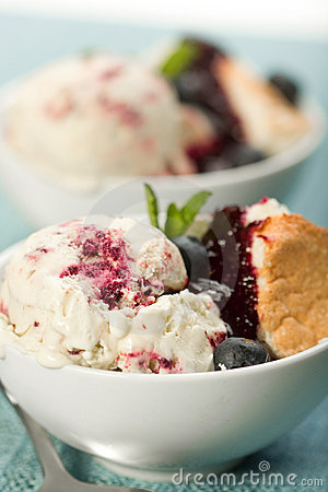 Blueberry Swirl Ice Cream