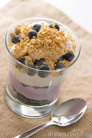 Free Blueberry Yogurt Parfait Stock Photos - 18712383