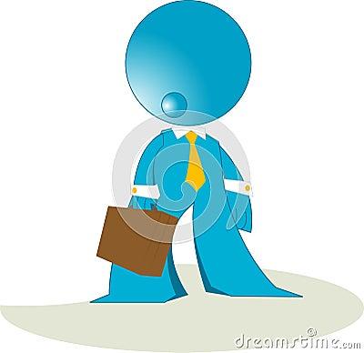 Blueman businessman cartoon