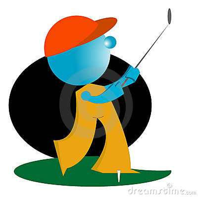Blueman play golf