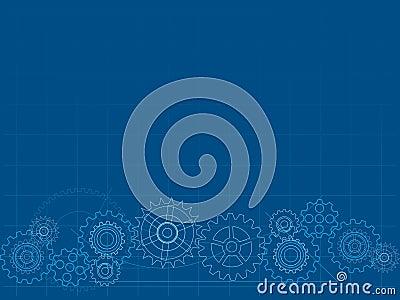 Blueprint cog background