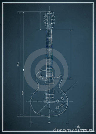 Blueprint electric guitar
