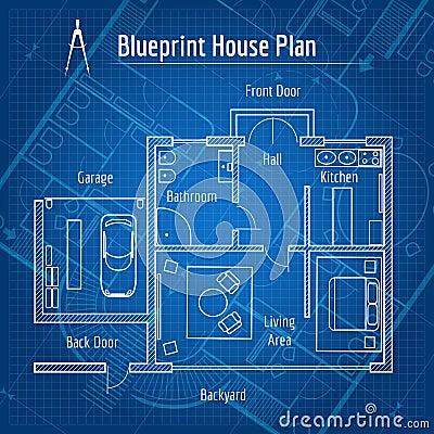 Blueprint Bathroom Fixtures Stock Photo - Image: 14834650