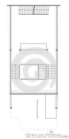 Blueprint le plan du deuxième étage