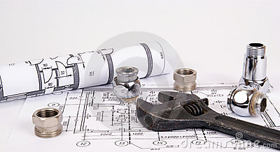 Blueprint and plumbing supplies