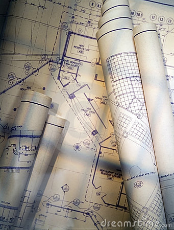 Free Blueprints Royalty Free Stock Images - 9078309